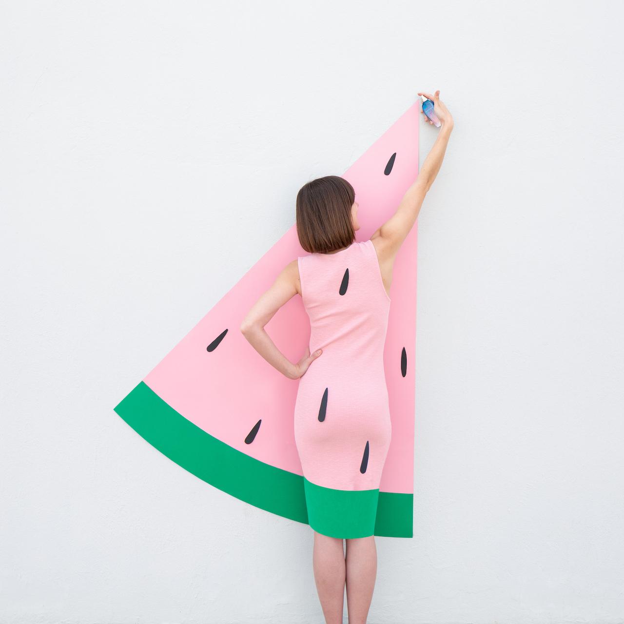 Annandaniel Anniset DrCuerda Anna Devís Daniel Rueda Papertastic One in a Melon Instagram creative influencer campaign Escada Sorbetto Rosso Watermelon