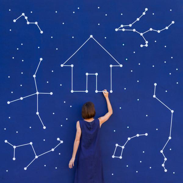 Annandaniel Anna Devís Daniel Rueda Anniset DrCuerda Artist Creative Minimal Photography Paper Art Galaxy Constellation Blue Space NASA Hasselblad Home Cosmos