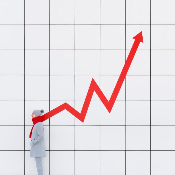 Annandaniel Anna Devís Daniel Rueda Anniset DrCuerda architecture modern building perspective illusion graph stock market business scarf red grid crash stocks stonk GameStop gamestonk